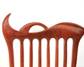 Wooden hair fork, Hair comb, 8 prong, Hair sticks, Wood, Massaranduba, Mother of pearl, Hairpin, Handmade, Hair accessory, WoodArtJewelry