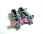 crochet baby shoes, grey elephant Baby Booties, baby slippers, baby animal shoes, crochet baby booties 0 - 12 month baby boy shoes socks