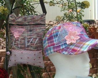 Pink Woven Rug bag 100F