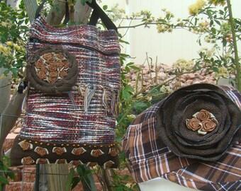 Brown Woven Rug bag ( 100A)