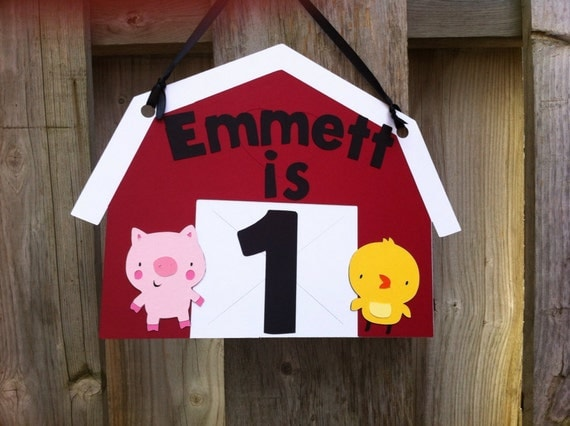 Items similar to farm theme door sign farm birthday baby for Farm door ideas