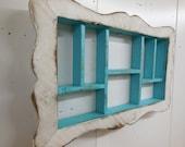 French Country Shadow Box,Framed Shadow Box,Shabby Style Wall shelf,Cubby Shelf,Printers Box,French Country Frame,Primitive Shadow Box