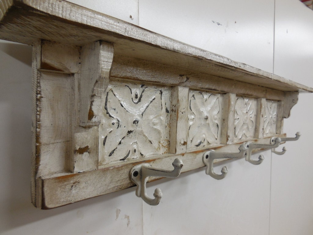 Vintage Coat Rack Shabby Chic