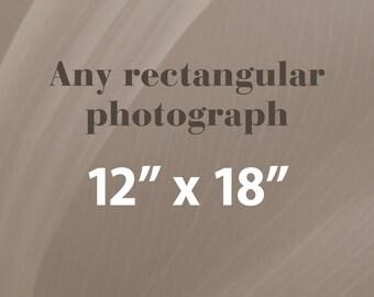 Any 12x18 Photographic Print, Rectangular