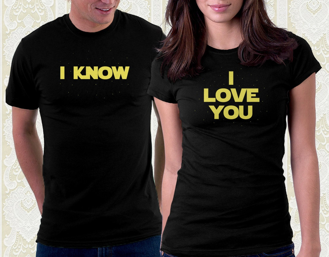 Han Solo I Know Shirt Couples T Shirt By Fishbiscuitdesigns