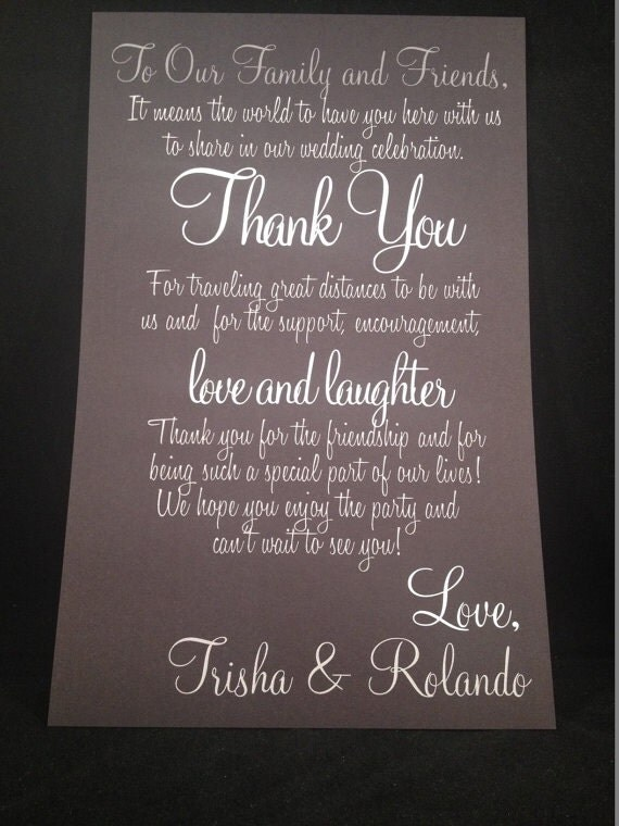Wedding Gift List Welcome Message : Unavailable Listing on Etsy