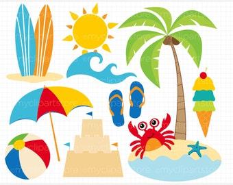 summer clipart – Etsy