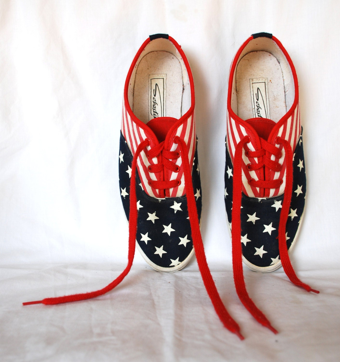 american flag 7 5 patriotic womens lace up tennis shoe