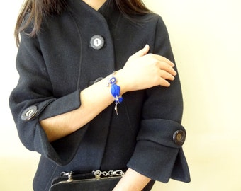 Saks Blue Turkish Silk Bracelet, Evil Eye Bracelet, Silver  Bracelet, Mother Day Gifts