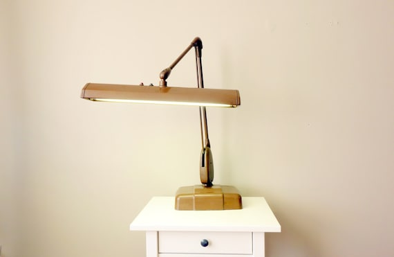 Vintage Dazor Floating Fixture Desk Lamp P 2324 With
