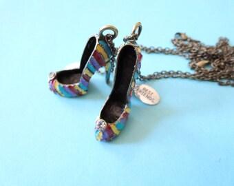 Best Friends Necklace Set -shoe necklace- Couples necklaces, gyspy boho chic bohemian steampunk