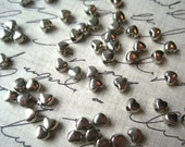 Heart Spacer Bead, 3mm x 4mm Spacer Bead, 11 grams / Approx 100 pcs Silver Color Spacers, Lead Free, Cadmium Free