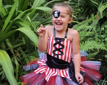 Pirate Tutu Costume, Pirate Dress, Girls Pirate Costume, Kids Halloween Costume