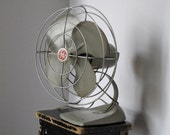 Vintage General Electric oscilliating fan / industrial decor