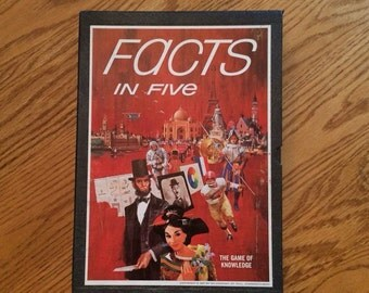 Vintage 3M Bookshelf Board Game FACTS IN FIVE 1967 Complete