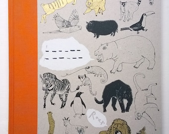 A4 Get More Exercise Jungle Book - hardback sketchbook/unlined notebook