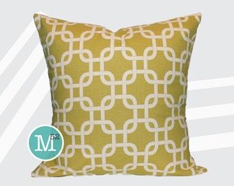 Yellow Gotcha Pillow Cover - Summerland Yellow - Many Sizes Lumbar, 12, 14, 16 - Zipper Closure - sc246l