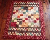 CLEARANCE- Fabulous Fall Throw Quilt