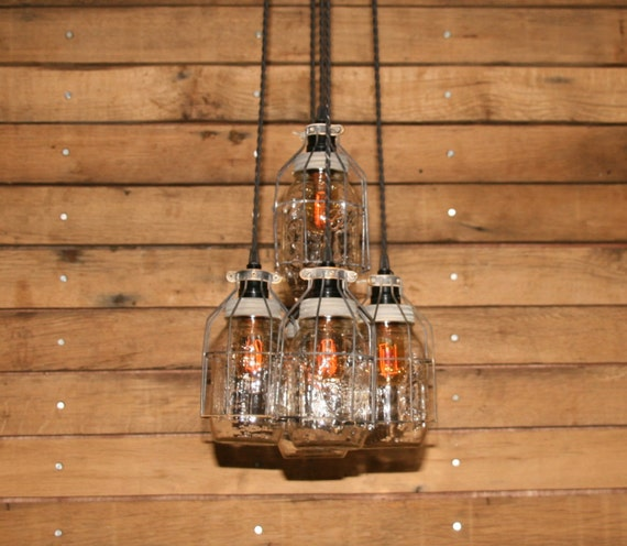Items Similar To Industrial Lighting: Items Similar To Industrial Jar Chandelier Light With Aged