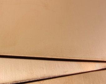 """28g Metal Sheet Copper 28 Gauge 12"""" x 6"""""""