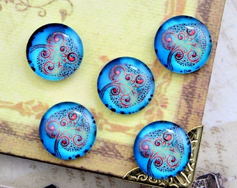 10pcs 12mm Handmade Glass Cabochon