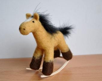 Rocking Horse needle felted miniature