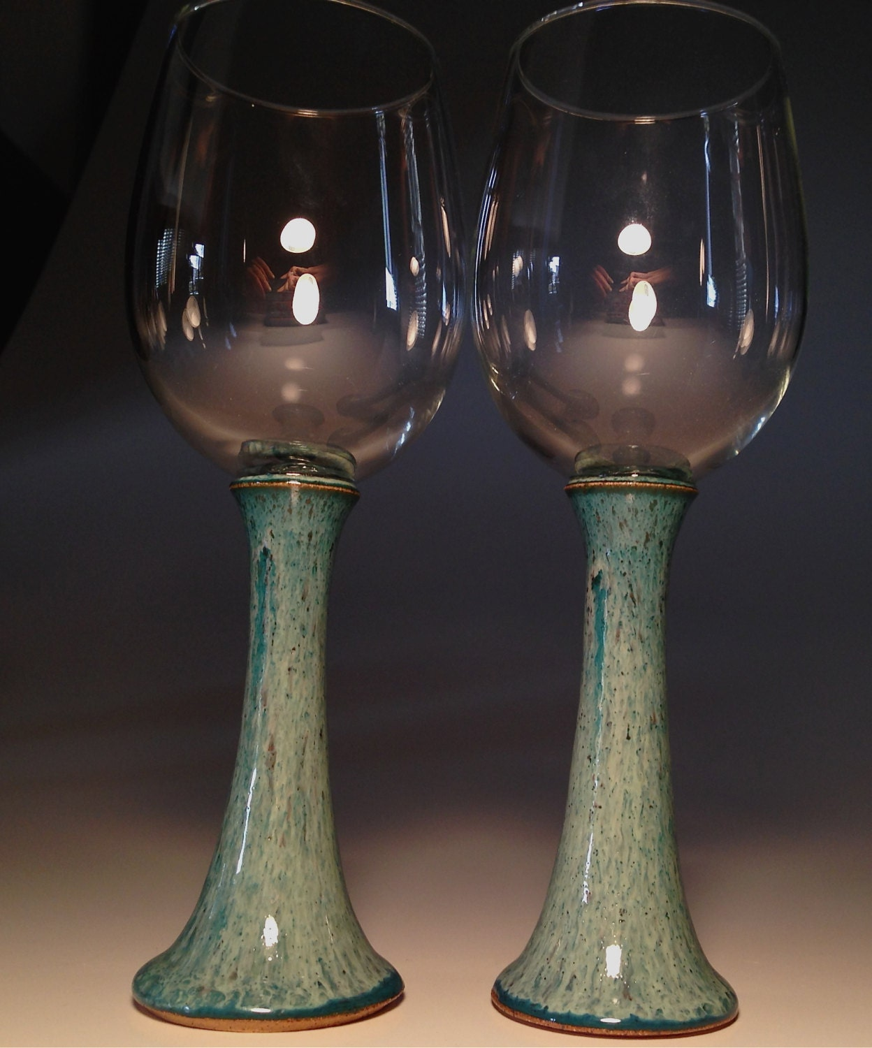handcrafted pottery wine glasses handmade glass set goblets. Black Bedroom Furniture Sets. Home Design Ideas