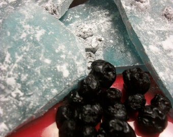 Rock Candy BLUEBERRY with dried blueberries 1pound bag made to order Blueberry hard candy