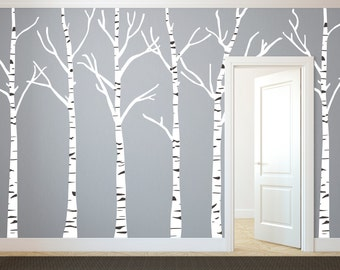 Birch Wall Decal | Etsy