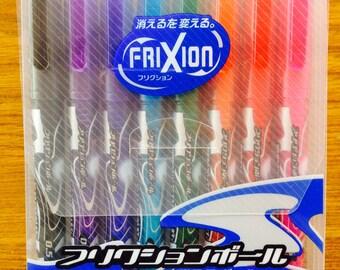 Pilot Frixion Erasable Ball Point Pens 0.5mm -  8 Colors