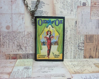 Miniature Book Necklace, Ozma of Oz Book Necklace, Literary Themed Gift