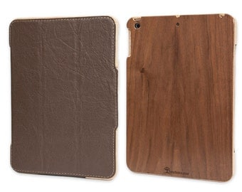 TreeShell iPad Mini Wood & Leather Case