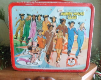 The Original Walt Disney Mickey Mouse Club Metal 1970's Lunch Box Featuring Lisa Welchel
