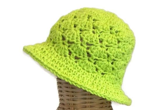 Baby Girl Floppy Sun Hat, Infant Hat, Lime Green