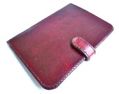 Leather e-reader case, electronic reader case, e-reader holder