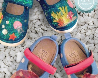 Custom Baby & Children's Shoes (Ocean Themed, Polka Dot Floral, etc.)