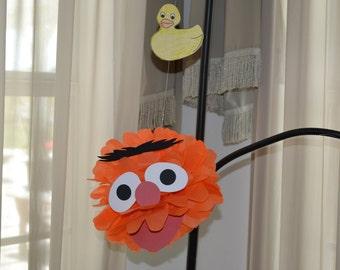 Rubber Ducky Loving Monster/Monster/ Monster Pom/Pom Pom/Tissue Pom Pom