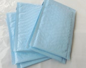 50 Pack Light Blue 4x8 Bubble Mailers, Baby Blue Padded envelopes, Colored Mailing Self Adhesive Shipping Protective Envelopes self sealing
