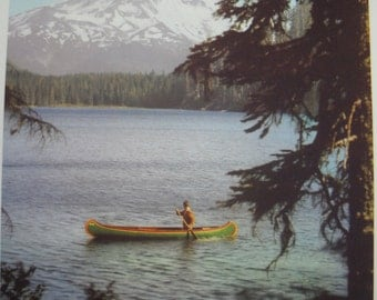 Vintage Mt. Hood Photo, Lost Lake, 1950s, Beautiful