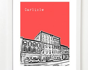 Carlisle Pennsylvania Poster - City Skyline Art Print - Carlisle, PA