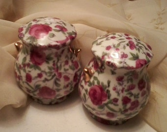 Chintz Salt and Pepper Shakers