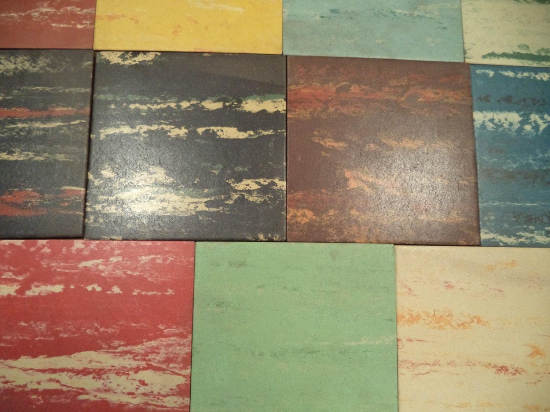 Vintage Salesman Sample Box Of Matico Asphalt Tile Flooring