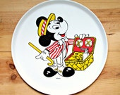 Vintage Melamine Mickey Mouse Serving Tray