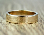 Gold Wedding Band Set, 100% Recycled 9ct Yellow Gold, Ethical, Eco Friendly, Ready To Ship Size N 1/2