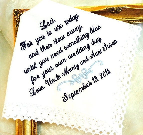 Wedding Gifts For Junior Bridesmaid : ... your own WEDDING day - Gift - Flower Girl - Wedding Day Hankerchief