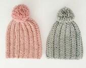 RIBBED crochet Hat (crochet, slouchy, warm, winter, rib) crochet pattern