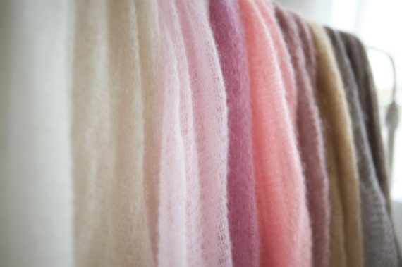 Newborn mohair wrap Knit stretch wrap Photography blanket Knit