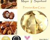 Mayan Superfood: Raw Cacao Butter 8oz (Certified Organic, High in ORAC Value)