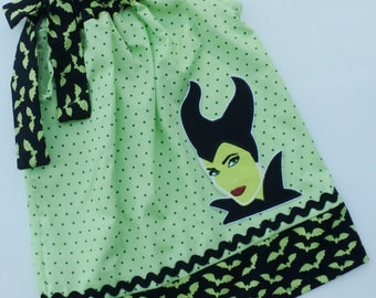 Custom Boutique Disney Witch Inspired Pillowcase dress Only  Sizes 0-6mo, 6-12mo, 12-18mo, 18-24mo, 2t, 3t, 4t, 5/6, 7/8