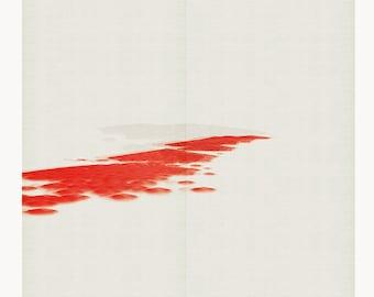 Red landscape II - Mixed media - modern art - minimal art - 95 x 95 cm - Limited edition (20)